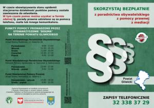 Nieodpłatna Pomoc Prawna i Nieodpłatne Poradnictwo Obywatelskie Powiat Gliwicki