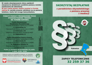 Nieodpłatna Pomoc Prawna i Nieodpłatne Poradnictwo Obywatelskie Katowice