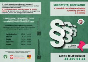 Nieodpłatna Pomoc Prawna i Nieodpłatne Poradnictwo Obywatelskie Powiat Lubliniecki