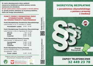 Nieodpłatna Pomoc Prawna i Nieodpłatne Poradnictwo Obywatelskie Powiat Pszczyński