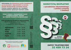 Nieodpłatna Pomoc Prawna i Nieodpłatne Poradnictwo Obywatelskie Powiat Raciborski
