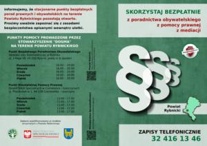 Nieodpłatna Pomoc Prawna i Nieodpłatne Poradnictwo Obywatelskie Powiat Rybnicki