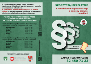 Nieodpłatna Pomoc Prawna i Nieodpłatne Poradnictwo Obywatelskie Powiat Zawierciański